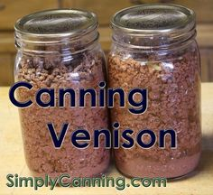 Canning Venison - canning meat ground and cooked before processing