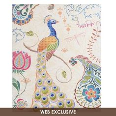 Peacock Fantasy Canvas Art Print-Would be perfect for little girls nursery!