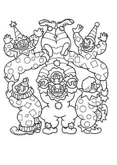 Coloriages cirques clowns