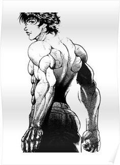 'Baki Hanma' Poster by WolfK Comic Style Art, Comic Art, Martial Arts Manga, Street Fighter Comics, Demon Drawings, Anime Fight, Yu Yu Hakusho Anime, Manga Anime, Anime Art