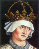 Elizabeth of Luxembourg - Daughter of Sigismund and Barbara of Celje. She married Albert II of Germany and had three children. Die Habsburger, Spanish Netherlands, Archduke, Holy Roman Empire, Roman Emperor, Herzog, Kaiser, Three Kids, 15th Century