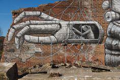 Phlegm, Robot, Sheffield - unurth | street art
