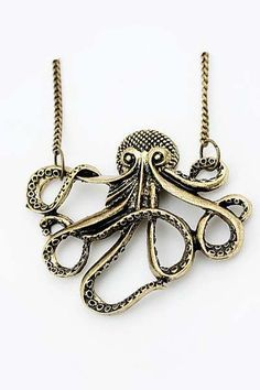 octopus necklace..I have this necklace and I love it! Its kinda cheap looking in person but u can buy it on Amazon for under a $1 so I can't complain hahaha