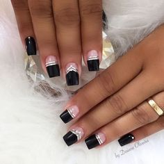 Easy New Year nails, see - Dress Models - Best Nail Art Designs, Acrylic Nail Designs, Acrylic Nails, New Year's Nails, Fun Nails, Hair And Nails, Gorgeous Nails, Pretty Nails, Nail Deco