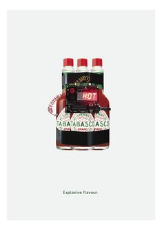 A simple yet powerful print campaign for Tabasco sauce. by Kieran Child
