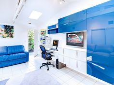 Image result for bright blue living rooms