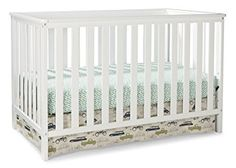 Convertible Crib in White Pine Wood Composite Construction Nursery Childs Bed Nursery Furniture Collections, Nursery Furniture Sets, Nursery Ideas, Room Ideas, Contemporary Cribs, Contemporary Style, Construction Nursery, Best Crib, Convertible Crib
