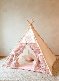 Kids Tents, Teepee Kids, Toddler Room Decor, Kids Decor, Rustic Kids Rooms, Girls Bedroom, Bedroom Decor, Diy Teepee, Princess Bedrooms