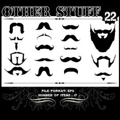 Other Stuff Vector Set 22 - Mustaches