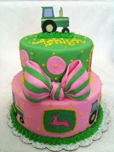 john deere cakes for girls