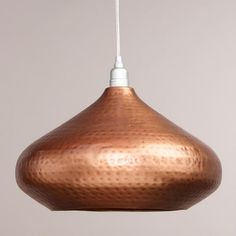 One of my discoveries at WorldMarket.com: Hammered Copper Hanging Pendant Lamp