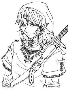 Legend of Zelda Coloring Pages - Enjoy Coloring