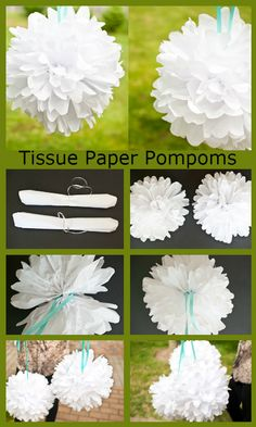 Tissue Paper Pompoms http://weddingideasbyyou.com/2014/02/12/tissue-paper-pompoms/