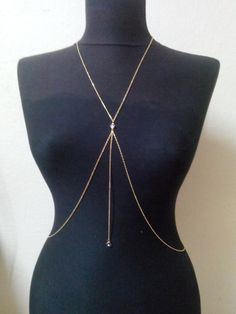 Body ChainCoin Necklace Body Necklace Bikini Gold Body by MukoShop, $22.00