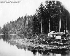 Coal Harbor 1887, now (Lost Lagoon)