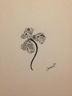 Irish Tattoo, but filled in leaves Cute Tattoos, Beautiful Tattoos, Body Art Tattoos, Tatoos, Wing Tattoos, Zodiac Tattoos, Beautiful Body, Shamrock Tattoos, Clover Tattoos