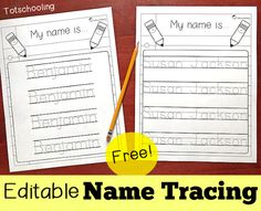 Kindergarten Names, Preschool Names, Name Activities, Preschool Learning Activities, Kindergarten Writing, Preschool Worksheets, Writing Activities, Kids Learning, Writing