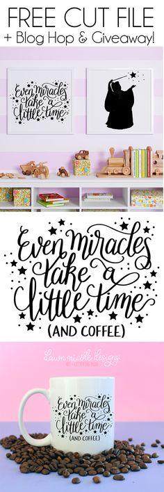 Even Miracles Take Time Free SVG Cut File. Because even miracles take time. Circuit Projects, Vinyl Projects, Vinyl Crafts, Disney Fantasy, Disney Art, Silhouette Cameo Projects, Silhouette Design, Silhouette Curio, Silhouette Files