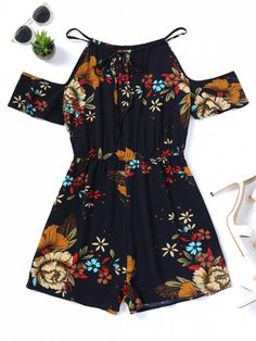 Up to 80% OFF! Cami Floral Cold Shoulder Romper. #Zaful #Jumpsuits #Romper zaful,zaful outfits,zaful dresses,spring outfits,summer dresses,Valentine's Day,valentines day ideas,cute,casual,classy,lace,mesh,fashion,style,bottoms,shorts,jumpsuits,rompers,playsuits,playsuit outfit,dressy jumpsuits,playsuits two piece,two piece outfits,two piece dresses,dresses,printed dresses,sundresses,long sleeve dresses,mini dresses,maxi dresses,lace dress,bohemian dresses @zaful Extra 10% OFF Code:ZF2017
