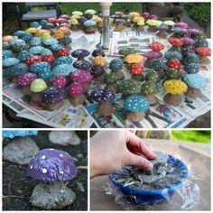 Cement mushrooms