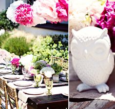 Vintage+Owls=My Kind of Party  Vintage & Owl Themed Shower. This even makes a great girly B-Day Party if you take out the subtle baby details!