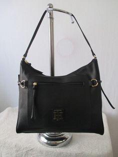Tommy Hilfiger Handbag Hobo Color Black 6932527 990 Retail Price $85.00 #TommyHilfiger #Hobo