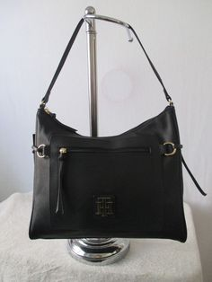Tommy Hilfiger Handbag Hobo Color Black 6932527 990 Retail Price $85.00 #TommyHilfiger #Hobo