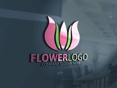 Flower Logo by Josuf Media on @creativemarket