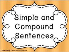 "This is a 3 to 4 day lesson presentation on Simple and Compound Sentences.  In this package, you will get: - 19 slides of teaching material - Two games: ""Simple or Compound?"" and ""Which Conjunction?"" -Now with animated answers! -47 total slides -Two anchor charts on simple and compound sentences and conjunctions $"
