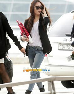 f(x) Krystal airport fashion casual yet neat look