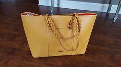 PRIX DE DRESSAGE Braid Detailed Double Handle Large Tote Bag-4 Colors-NWOT