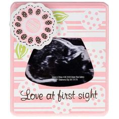 Celebrate your little girl with an adorably sweet frame to love at first sight ultrasound sonogram picture photo keepsake frame baby shower gift ideas pregnancy negle Gallery