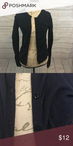 Never worn Dark Blue Cardigan Button down Cardigan. Dark blue. Never worn, tags removed Ann Taylor Sweaters Cardigans
