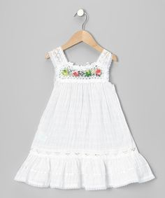Look what I found on #zulily! Little Cotton Dress White Nathaly Ibiza Dress - Infant, Toddler & Girls by Little Cotton Dress #zulilyfinds