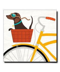 Look what I found on #zulily! Beach Bums Dachshund Bicycle Gallery-Wrapped Canvas #zulilyfinds