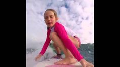SEVEN YEAR OLD GIRL, SURF, SKATES, WAKE SURFS AND SNOWBOARDS BETTER THAN YOU