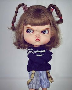 Temper Temper Girl Blythe doll costume revise in 2019 Couples Anime, Angry Girl, Cute Cartoon Girl, Cute Girl Drawing, Nina Simone, Art Anime, Cute Cartoon Wallpapers, Doll Costume, Little Doll