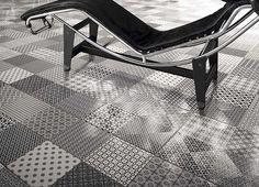dlažba obklad se vzorem 45x45cm Retro art deco vintage černobílá dlažba mix cena za 1/m2