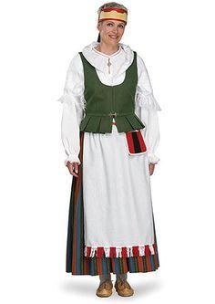 Sortavalan eli keski-karjalan kansallispuku Folk Clothing, Folk Costume, Traditional Dresses, History, Folklore, Birches, Midnight Sun, Clothes, Europe