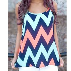 4773adc3730af Chevron Tank Boutique. Racerback Tank TopFashion ...