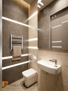 Фото: Санузел - Квартира в стиле минимализм, ЖК «Смольный парк», 103 кв.м.