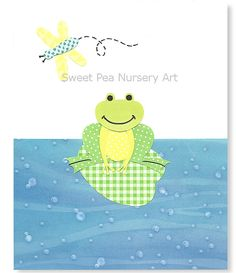 Nursery Art Boys Room Decor Frog Nursery 8 x by SweetPeaNurseryArt, $15.00