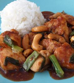 The Best Chinese Cashew Chicken Recipes on Yummly Turkey Recipes, Chicken Recipes, Dinner Recipes, Sauce Recipes, Asian Recipes, Healthy Recipes, Yummy Recipes, Cashew Chicken, Fried Chicken