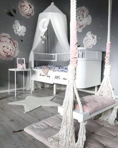 11 Cute Nursery Baby Room Ideas for Baby Girl Girls Bedroom Decor White Girls Rooms, Pastel Girls Room, Little Girl Rooms, Baby Room Ideas For Girls, Baby Girl Bedroom Ideas, Baby Girls, Cute Bedroom Ideas, Cute Room Decor, Baby Room Decor