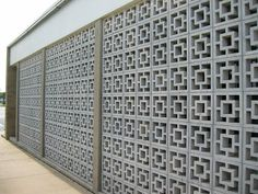 Modern Mid Century Decorative Concrete Blocks | Modern Charlotte, NC Homes For Sale | Mid-Century Modern Real Estate | Gail Jodon