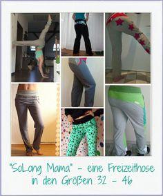 """Freizeithose """"SoLong Mama"""" Größe 32 - 46 von MoiraLita auf DaWanda.com"""