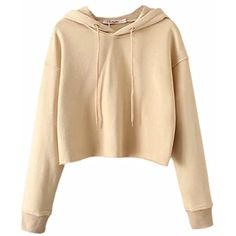 Womens Solid Drawstring Hoodies Pullover Sweatshirt Crop Tops >>> See this great product. (This is an affiliate link) #FashionHoodiesSweatshirts