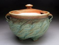 Twisted Tureen Made To Order by jeffbrownpottery on Etsy, $195.00