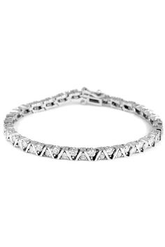 Majesty Diamonds 2.95 CTW 14k White Gold Diamond Tennis Bracelet