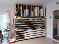 Great design for storing canvas, papers and boards...